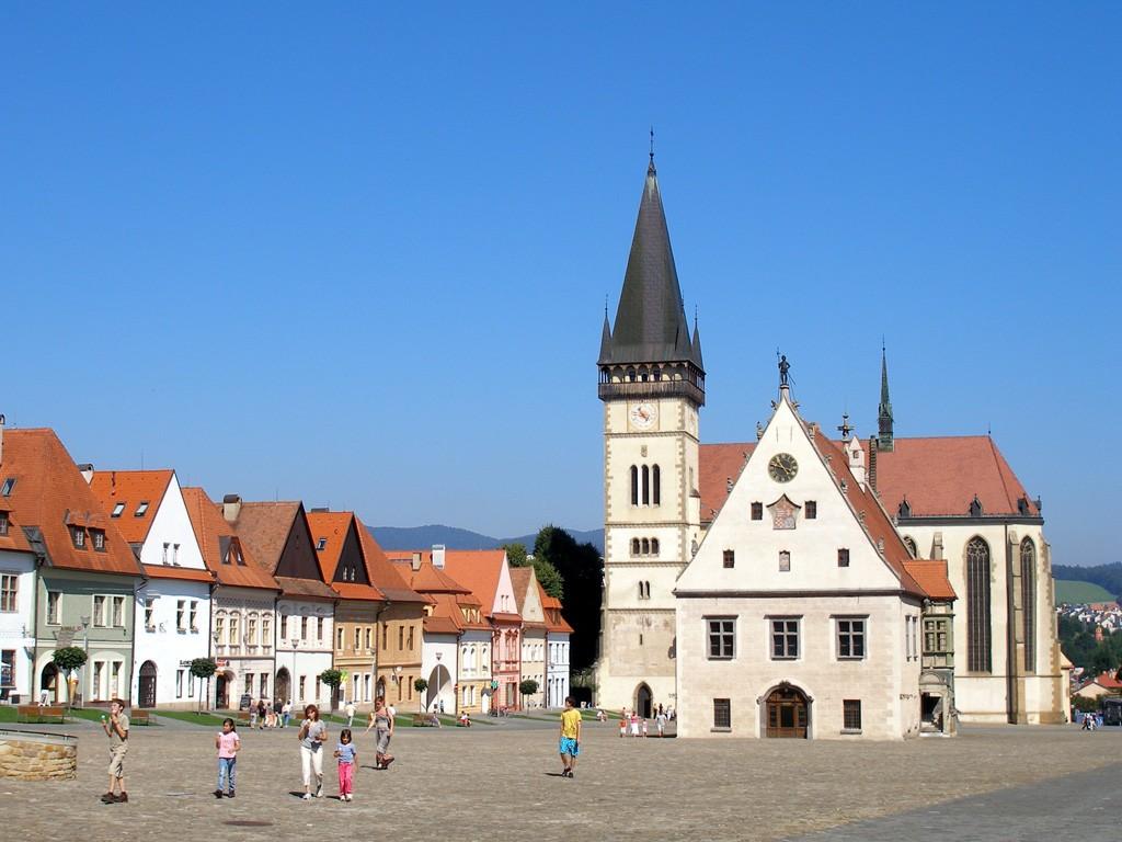 Bardejow Rynek Główny na Słowacji