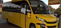 autobus iveco żółty