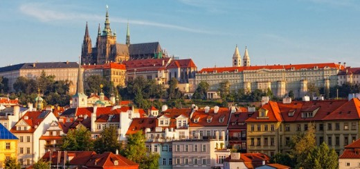 Praga, widok na Zamek na Hradczanach