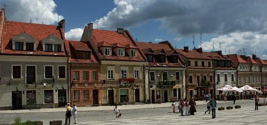 Rynek w Sandomierzu w centrum starówki